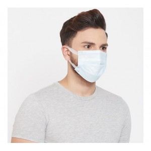 Shakuntla 3 Ply Mask With Softest Ear Loops Surgical Mask With Melt Blown Fabric Layer ( Pack of 50 PCS)