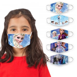 Cartoon Print Kids Face Mask for 5 Years To 10 Years Combo of 5 pcs