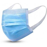 3 Ply Mask With Softest Ear Loops Surgical Mask With Melt Blown Fabric Layer ( Pack Of 50 PCS)