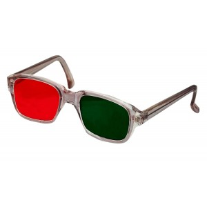 Diplopia Glasses Anaglyph Red/Green In Plastic Frame