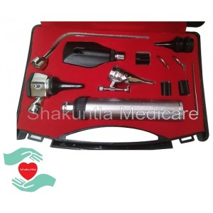 ENT Diagnostic Complete Set with Opthalmoscope & Otoscope