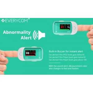 Everycom SP98  Finger Pulse Oximeter With 1 Year Replacement Warranty ( Made In India )