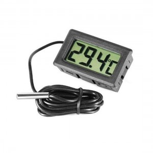 Digital Thermometer with LCD for Fridges Freezers, Black/White